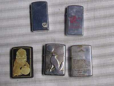 Lot Of 5 Zippo Lighters Used