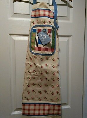 "Butcher ~ Baker Apron ""Log Cabin Quilt Pattern"" High Quality NWT"
