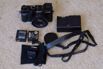 Panasonic LUMIX DMC-LX100 12.8MP Black Digital Camera Mint Condition