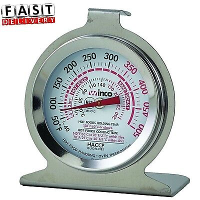 Oven Thermometer Heavy Duty Commercial Grade Hang Stand Dual Temperature Display
