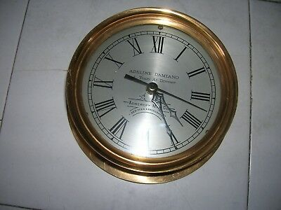 Solid Brass Ashcroft Mfg Co Clock With Junghans Clock Adeline Damiano