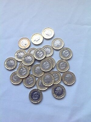 British pounds, English pounds, new one pound coins, UK, currency. British money