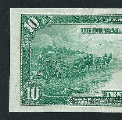 1914 $10 Federal Reserve Note  <<< Kasnas City >>> Low 7-Digit