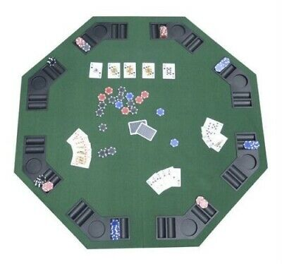 8 player Folding Poker & Blackjack Table portable Casino Game Green Cover 48""