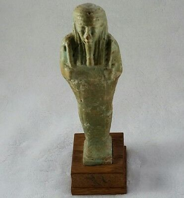 Egyptian Faience Ushabti c. 18th Dynasty 1600 B.C w/ Export License dated 1961