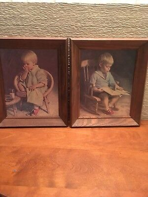 Vintage Homco Pictures, Boy And Girl