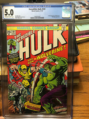 Incredible Hulk 181 CGC 5.0 1st Appearance Wolverine CBCS