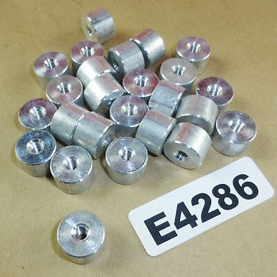 """Lot of 30 - Aluminum threaded spacer standoff .5"""" long, .75"""" OD 1/4-20 6061-T6"""