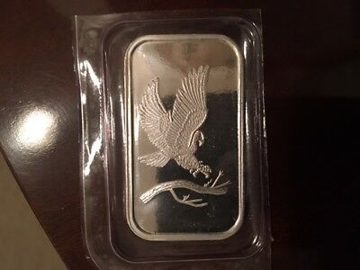 SilverTowne Trademark Bald Eagle 1oz .999 Fine Silver Bar