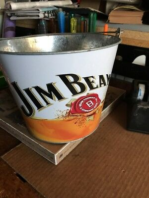Jim Beam Metal Bucket New See Pics Small Amt Surface Rust P/up Essendon In Melb