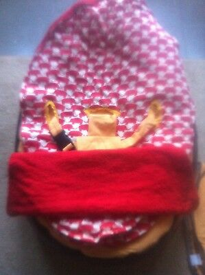 Baby bean bag, Doomoo baby cushion/ bed with handmade cover excellent condition!