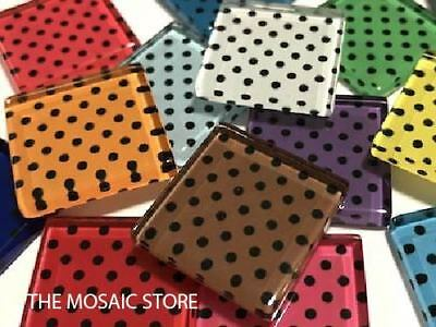 Mixed Dots Handmade Glass Tiles 2.5cm - Mosaic Tiles Supplies Art Craft