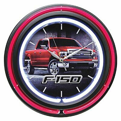 "Key Enterprises Ford Double Neon 15"" Wall Clock, Ford F-150"