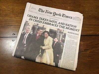 THE NEW YORK TIMES Obama Inauguration (21.01.2009)