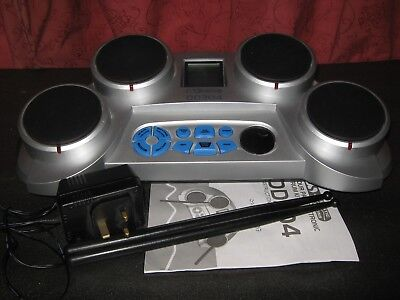 Electronic Drum Kit Dd304 With Sticks & Book Good Clean Cond & Gwo Please Read