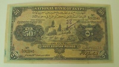 50 pounds Egypt 1920 banknote