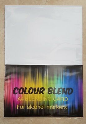 25pk 'Colour Blend' A4 Card For Alcohol Markers (Copics, Promarkers etc) 250gsm