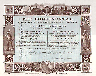 THE CONTINENTAL Mining and Metallurgical Company