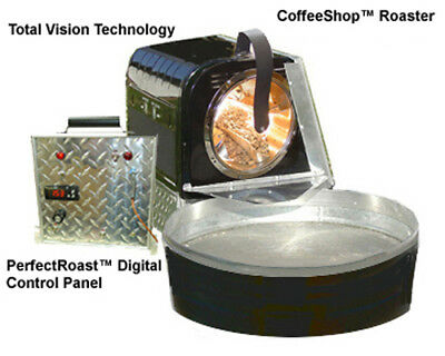 commercial coffee roaster with silo