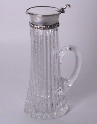 American Brilliant Cut and Sterling Silver Pitcher Creamer/Syrup