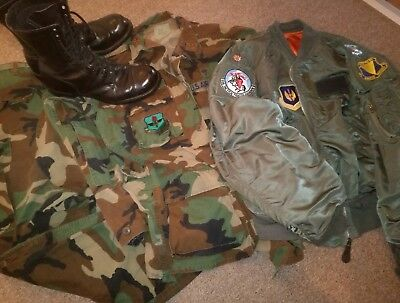 Corcoran Boots US Airforce Uniform Bomber Jacke Woodland Camouflage 11,5 Gr.L