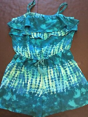 Justice Girls Spring Summer Tie Dye One Piece Romper, Shorts, Size 14, NWT