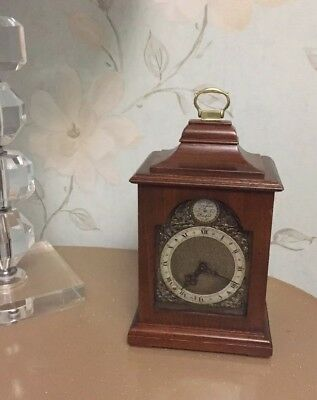 English Carriage Mantel Clock by Rotherham Platform Balance  8 day working order