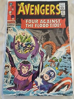 Silver Age Avengers #27 VF 8.0.  W/OW pages AWSOME BOOK!