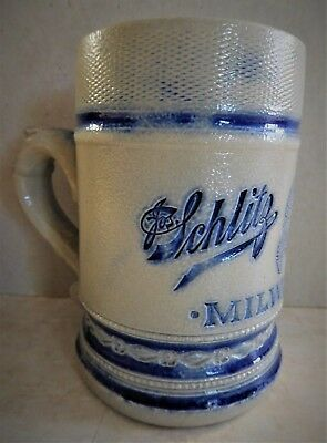 0.25 Liter 1890 Schlitz Brewery Stein, Milwauky Made By Whites Utica Ny