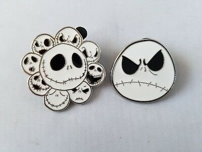 Disney Trading Pins Set of 2 Nightmare Before Christmas Jack Skellington