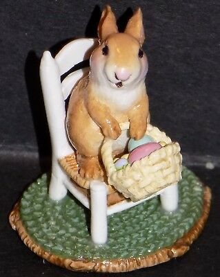 Wee Forest Folk Bunny's Wee Chair A-17 Easter Retired