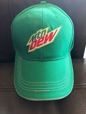 MOUNTAIN DEW Adjustable Baseball Cap Hat Mtn Soda Pop Cotton One Size Pepsi Co
