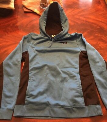 Under Armor Sweatshirt Blue Black Hoodie Youth M Pre-Owned Great Condition