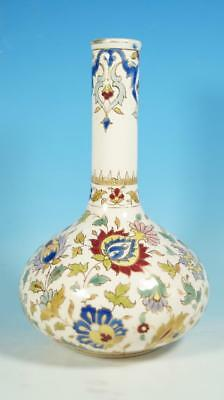 Late 19th / Early 20th Century Zsolnay Pecs Hungarian Bottle Vase 20cm High
