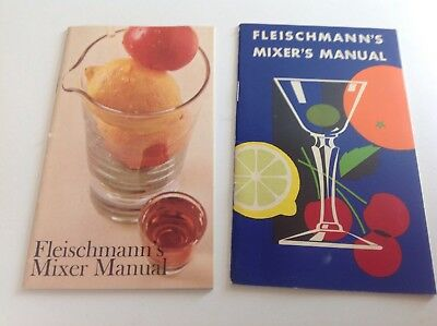Lot Of 2 Vtg Collectible Fleischmann's Mixer Manuals