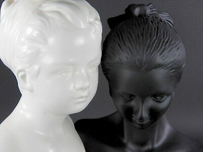Mannequin Lot Vintage & Modern Jewelry Display Bust Stand Child Form Black White