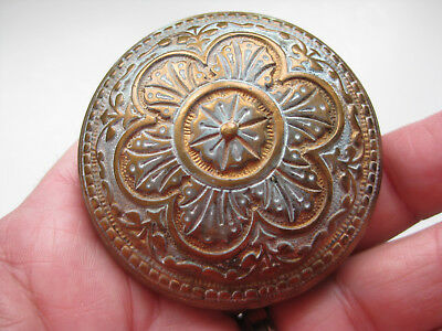Antique Victorian Eastlake Style Brass Door Knob Arts and Crafts