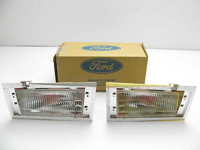 NOS OEM Ford LEFT & RIGHT Side Marker Cornering Light Lamps D9AZ-15A201-A-B