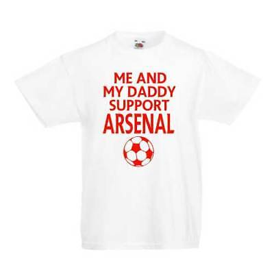 Me And My Daddy Support Arsenal Kid's T-Shirts - Children's Football Top