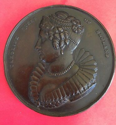 1820 British QUEEN CAROLINE MEDAL HER TRIAL OF ADULTERY