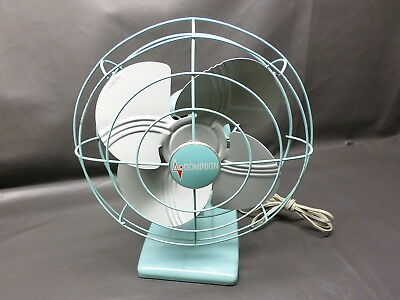 Vintage Dominion  Light Blue Electric Table Fan - Hums Only - Super Clean