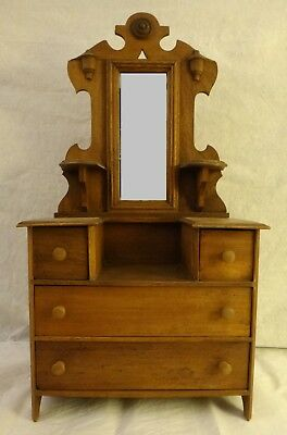 "American Walnut Salesman Sample Dresser w/Mirror. c. 1885-1900. 28 ¼"" tall"
