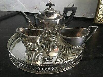 Antique Walker & Hall Silver Plated Teapot/Coffee Set