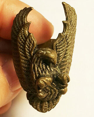 Antique Vintage Seizing Eagle Spreading Wings Brass Ring Size 7.5