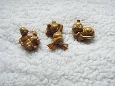 Lot of 3 1975 Duncan Ceramic (Frog, Snail, Turtle) Beautiful condition! Marked