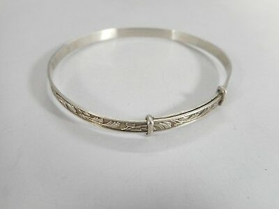 Vintage 925 Solid Sterling Silver Adjustable Bracelet Hallmarked