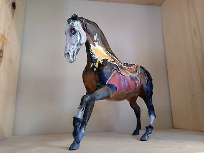 Zombie Custom Model Horse with Dragon, Raven Hand Painted