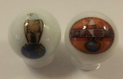 A Lot of 2 Case Tractor Logos Advertising Glass Marbles