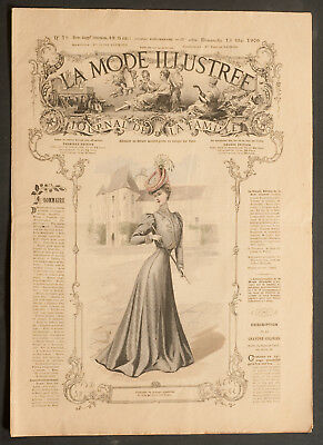 'la Mode Illustree' French Vintage Newspaper 13 May 1906