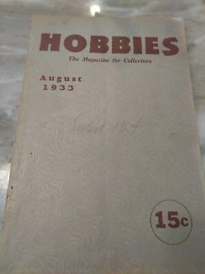 Hobbies The Magazine For  Collectors August 1933
